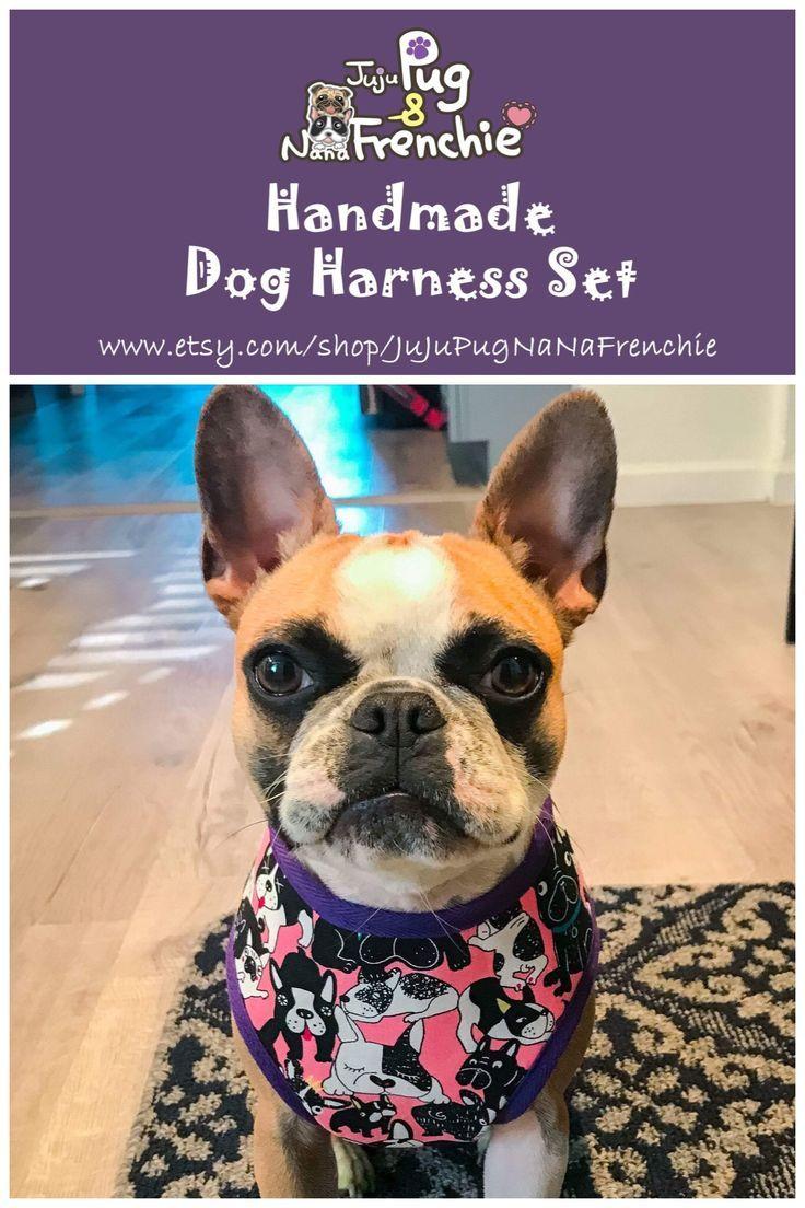 Pink Dog Harness French Bulldog Harness Girl Dog Harness Pug