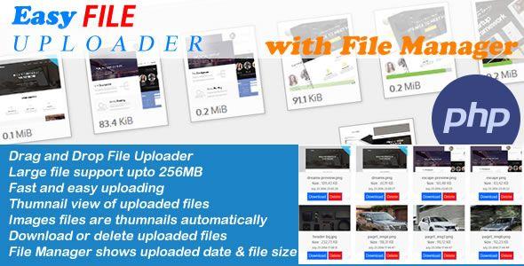 Easy File Uploader - PHP Multiple Uploader with File Manager