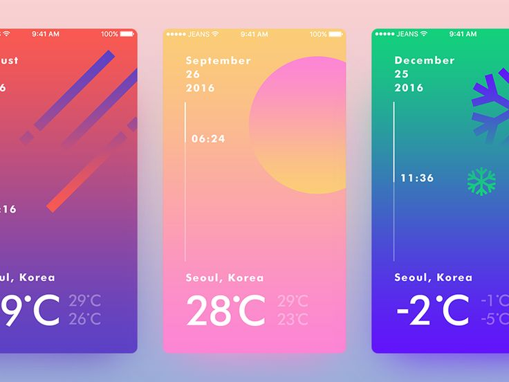 , ux-ui-research: Weather UI Concept by jeans