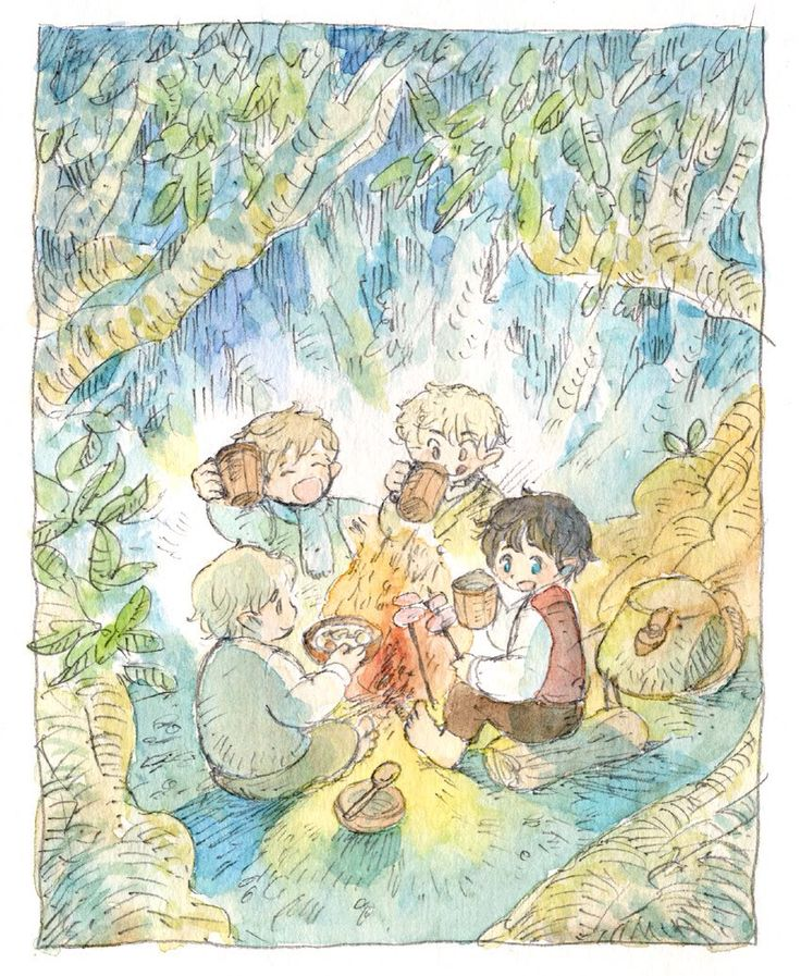 Frodo, Sam, Merry and Pippin #lordoftherings #fanart