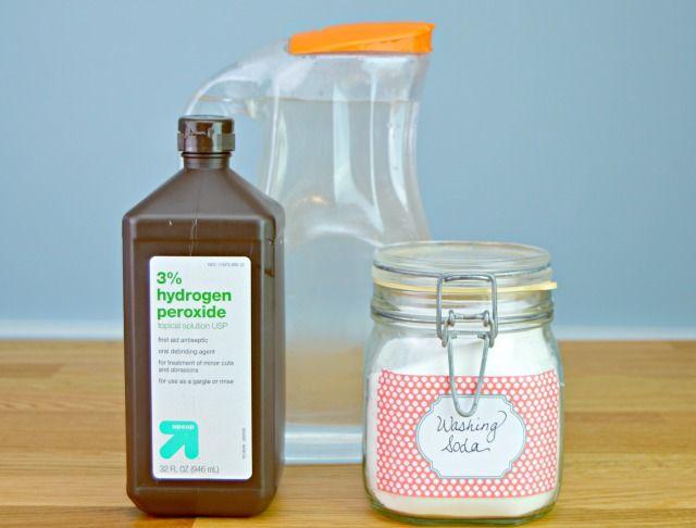 3 Ingredient Homemade Bleach Alternative / Whitening Solution