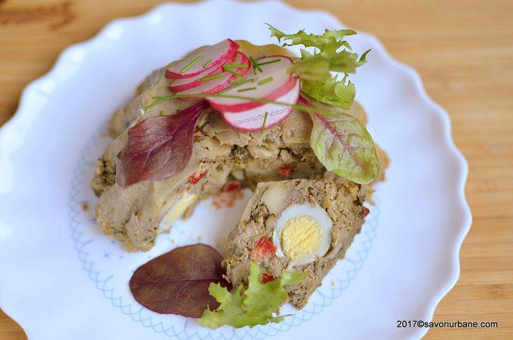 Drob de pui cu ciuperci oua cascaval reteta de Pasti savori urbane