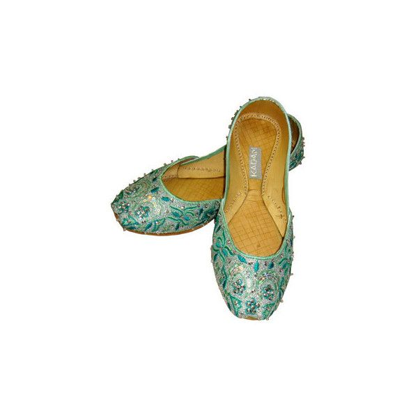 Embroidered Fashion Pumps - Fashion Pumps - Indian & Asian Shoes by... ❤ liked on Polyvore