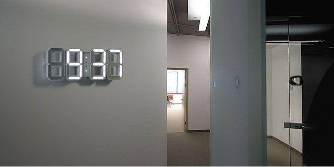 White & White ClockNumbers, Digital Clocks, Gift Cards, Wall Clocks, Products, Retrato-Port Digital, Design, White Wall, White Clocks