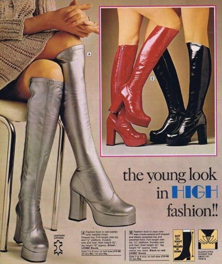 70er schuhe und stiefel