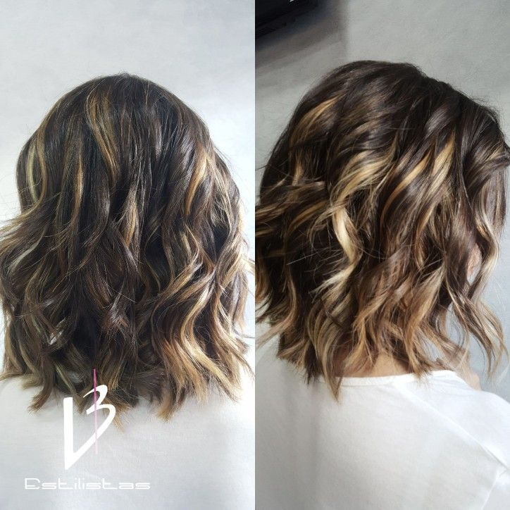 Relieves de Color. Ombre haircut. Balayage