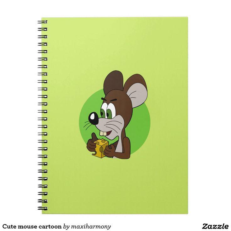 Cute mouse cartoon spiral notebooks