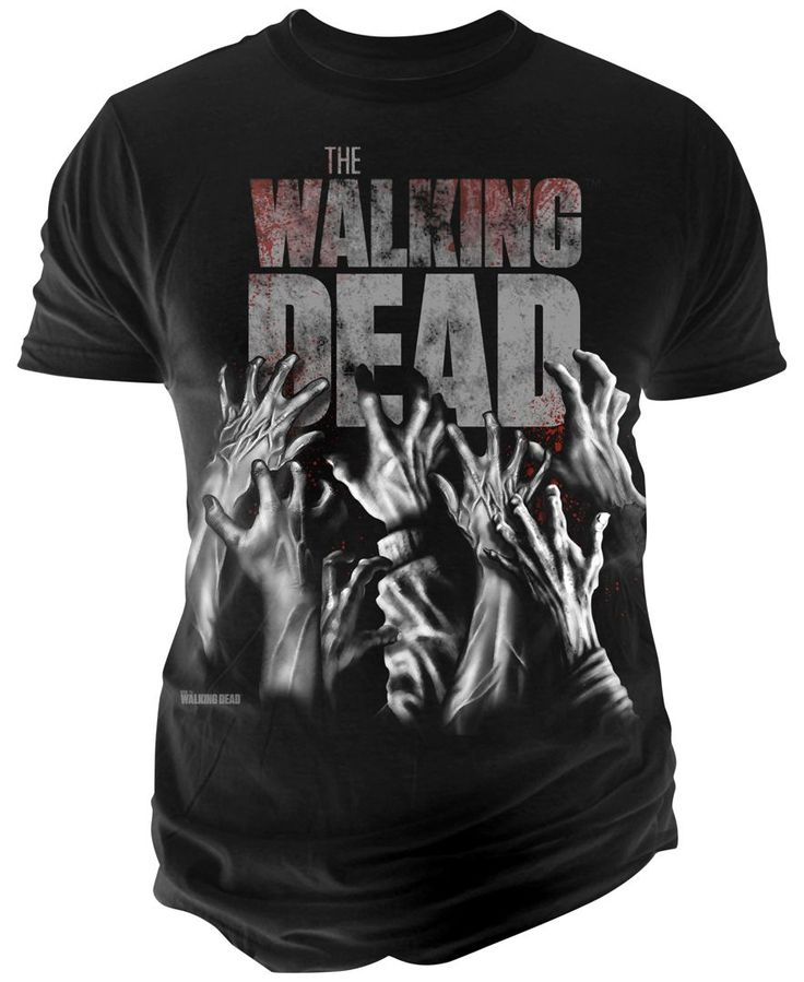 "Bring fright-night style back to life with this cotton T-shirt by Changes that features hands reaching up and ""The Walking Dead"" printed at front. 