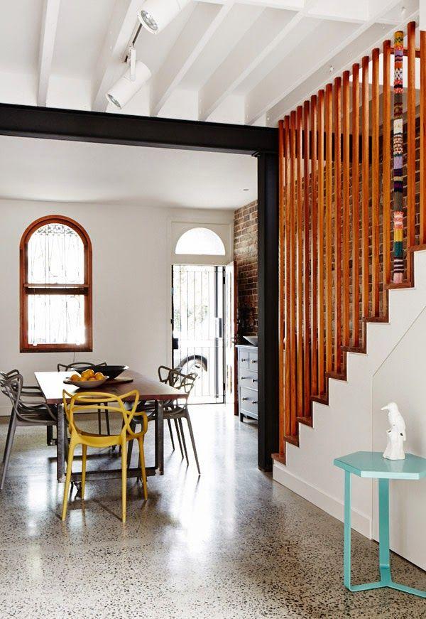 Inspiración Deco en un piso lleno de buenas ideas y mezcla de estilos. Suelo terrazo
