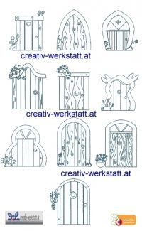 fairy garden gnome home doors