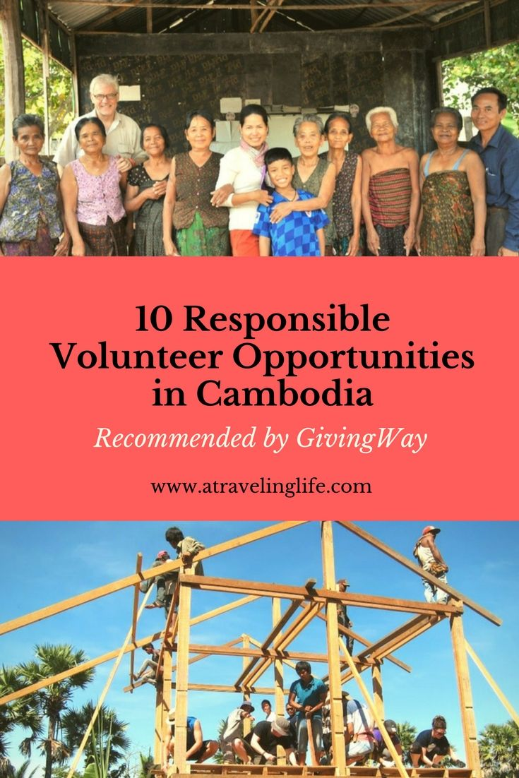 Check out these 10 Responsible Volunteer Opportunities in Cambodia recommended by GivingWay.
