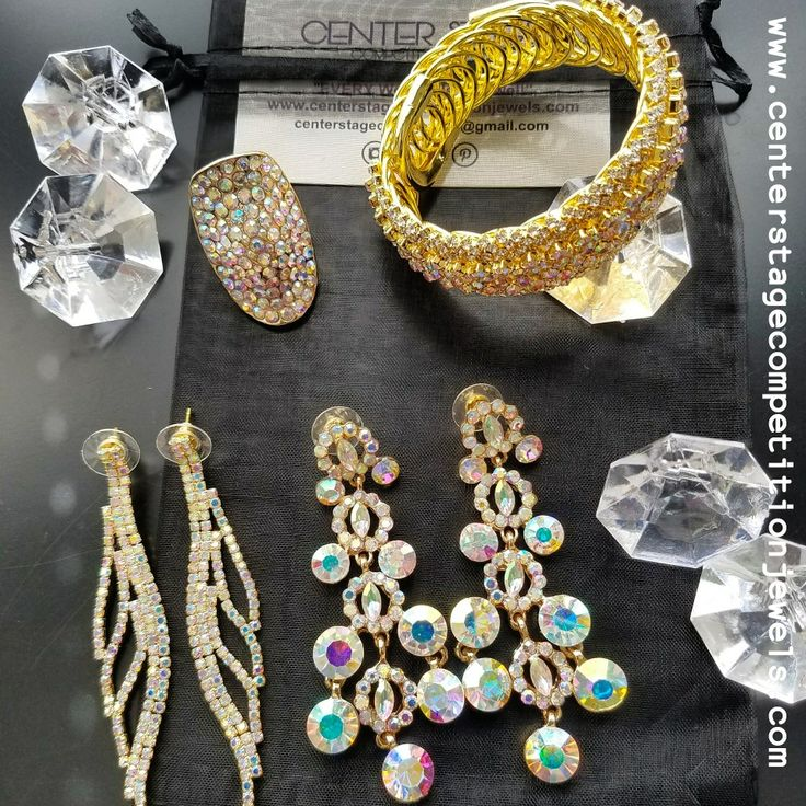 All gold everything! CSCJ can match any suit. #gold #goldjewelry #jewelry #competition #competitionjewelry #bling #rhinestones #sparkle #glitter #fitness #bodybuilding