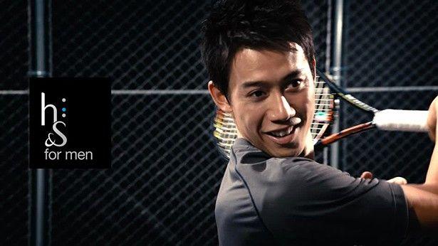 テニスの錦織圭選手がP&G「h&s for men」の新テレビCMに出演