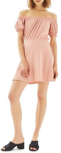 Women's Topshop Bardot Skater Dress - http://shopstyle.it/l/b44B #Topshop #womensfashion #Fashion #style #loveasale #affordablefashion #highstreet