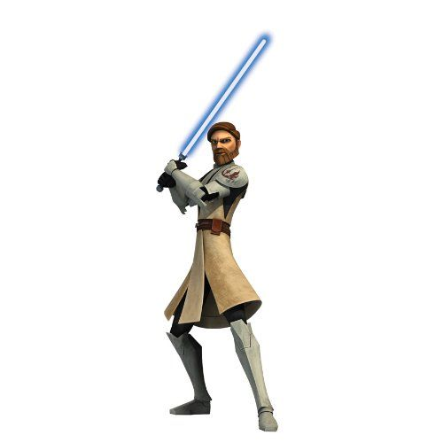 RoomMates RMK1403GM Star Wars the Clone Wars ObiWan Glow in the Dark Giant Wall Decal *** For more information, visit image link.Note:It is affiliate link to Amazon.