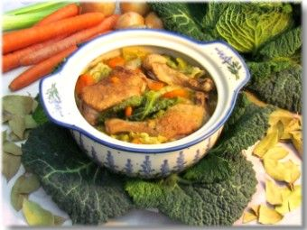 Goose stew with cabbage