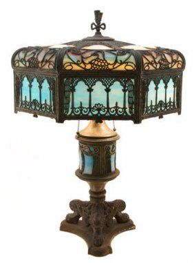American Slag Glass Lamp