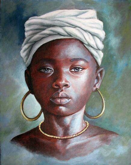 Black Art African American Young Woman