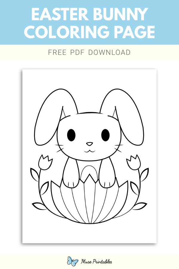 Free Easter Bunny Coloring Page Easter Bunny Colouring Bunny Coloring Pages Coloring Pages