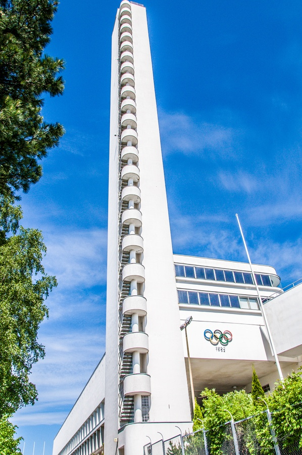 Tower of the Olympic stadium, Helsinki -  Stadionin tornin korkeus on 72 metriä. Olympia stadion vihittiin käyttöön 12.6.1938.