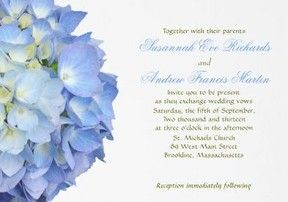 blue moon wedding invitation