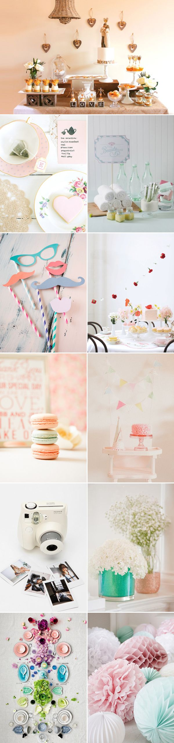 Kayla, look through these pics. There are all kinds of different ways to do hanging decor and streamers. And examples of mismatching prints and styles.