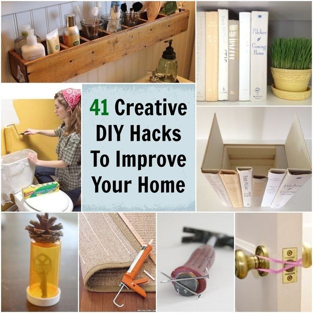 41 Creative DIY Hacks To Improve Your Home I hadn't seen some of these before
