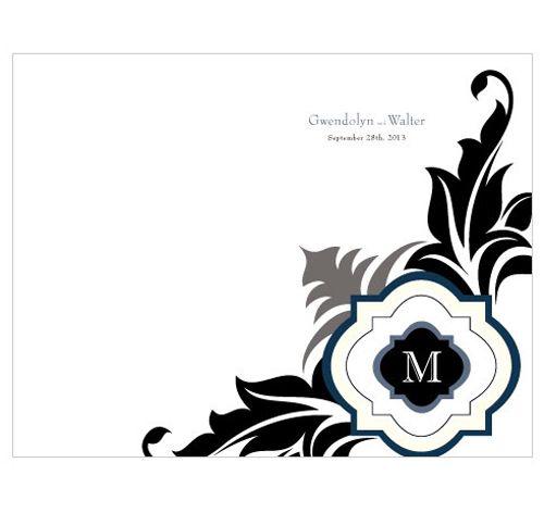 Lavish Monogram Wedding Bulletin | Wedding Bulletins