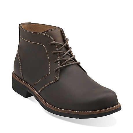 Meldon Top in Dark Brown Nubuck - Mens Boots from Clarks