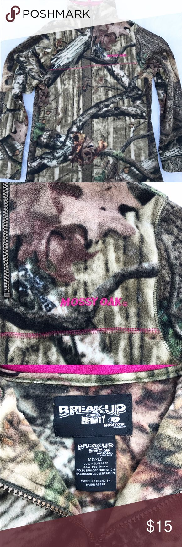 Women's camouflage mossy oak fleece Women's pink camo, soft, neck zip up mossy oak fleece. Other