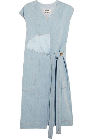 Acne Studios - Orrin Satin-paneled Denim Vest - Light denim - FR32