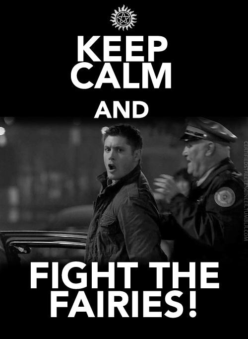 Keep Calm & Fight the Fairies - Supernatural - Dean
