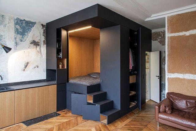 Un cube multifonction aménagé par l'agence d'architectes d'intérieur de Batiik Studio