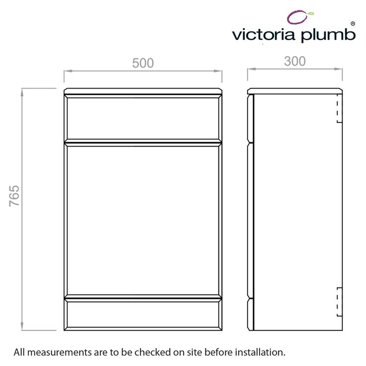 Sienna White Back to Wall Unit 300 - Victoria Plumb