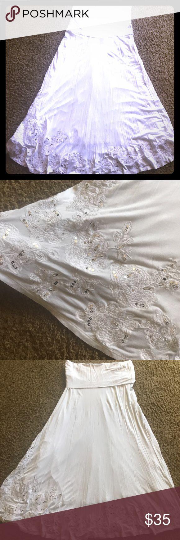 White apron macy's - I N C Convertible Maxi Dress White Strapless Convertible Maxi Dress With Embellished Hem Along Bottom
