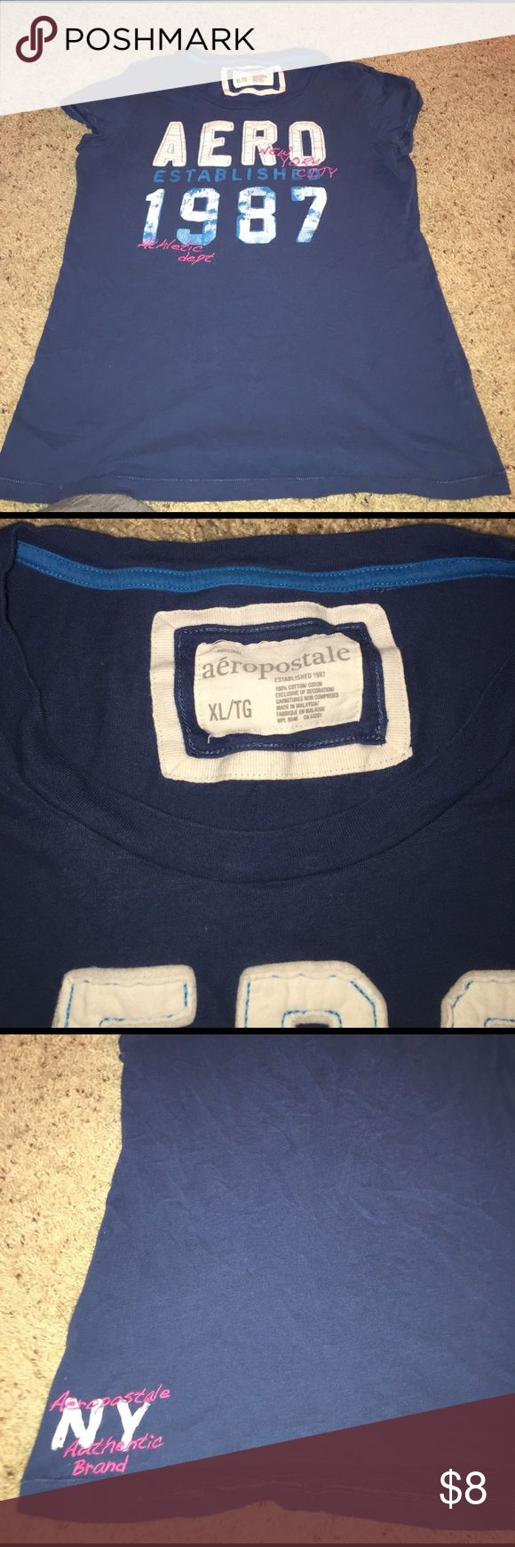 Aeropostale Aero Blue Tee Aeropostale Aero Blue Tee. Aero is stitched on. Tee is in great condition wore a handful of times. Aeropostale Tops Tees - Short Sleeve