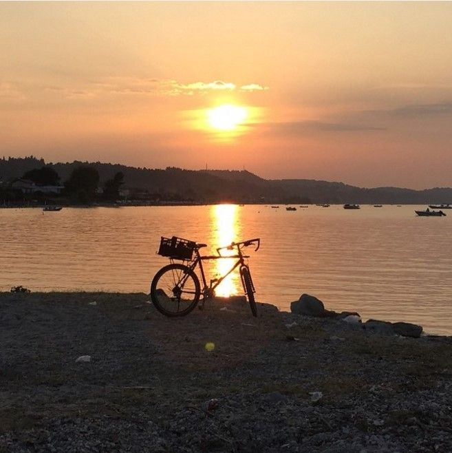 Take a long ride and don't come back unless the sun is set! @purplewitch18 #Halkidiki