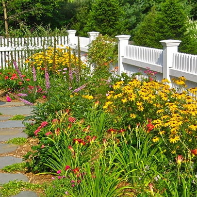 Picket Fence Garden Design Ideas, Pictures, Remodel, and Decor