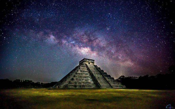 Обои для рабочего стола Пирамида Чичен-Ица, Мексика