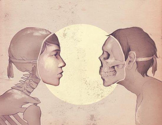As ilustrações filosóficas de Ashley Mackenzie ~ Pêssega d'Oro