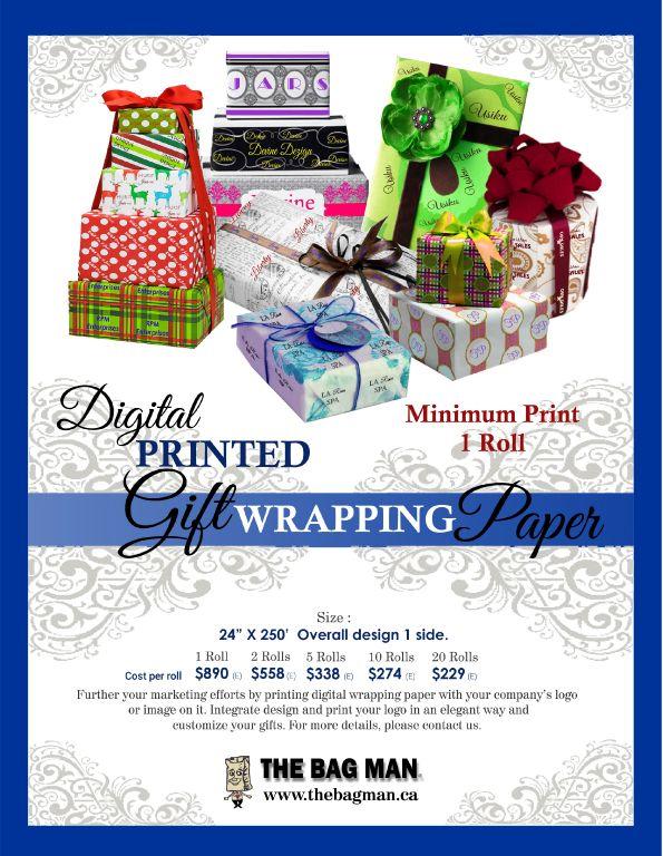 The Bag Man-Papier d'emballage- Impression numérique-  www.thebagman.ca http://www.creatchmanpromo.ca/