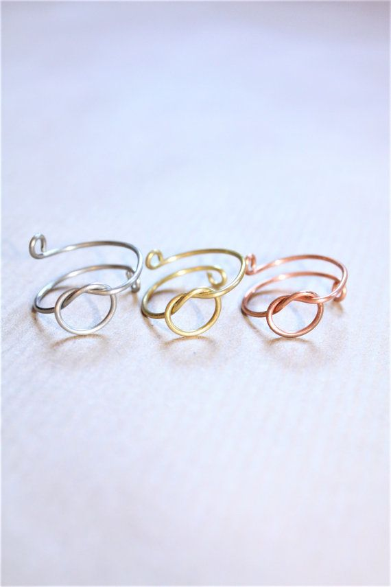 Knot Ring Infinity Knot Ring Dainty Knot Ring by DiAndDe on Etsy