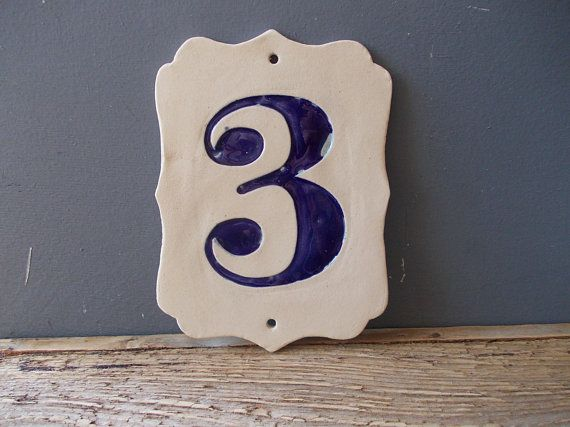 Any Custom House Number Vintage Home Decor Door Number