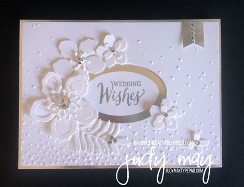Stampin' Up! Botanical Builder Framelits & Softly Falling TIEF - Judy May, Just Judy Designs