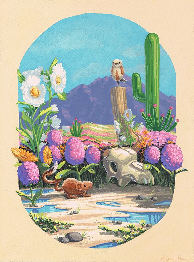 Illustration by Philippe Poirier for Light Grey Art Lab`s Botanica show
