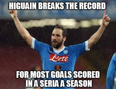 Higuain breaking the record with a bicycle goal  CONGRATULATIONS HIGUAIN Credits: Troll Football Albania  -XhS 00