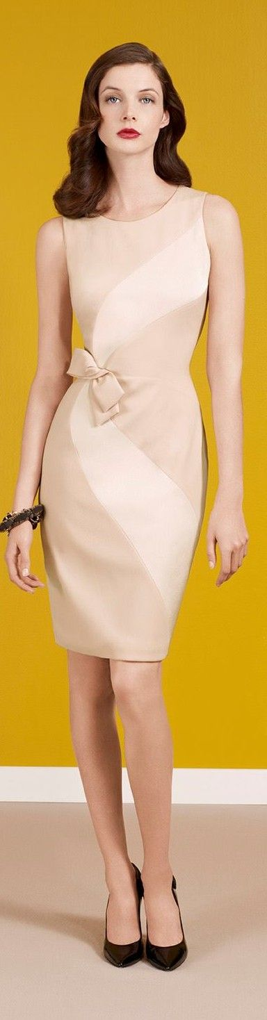 Two-Tone Nude Cream dress (no bow though)