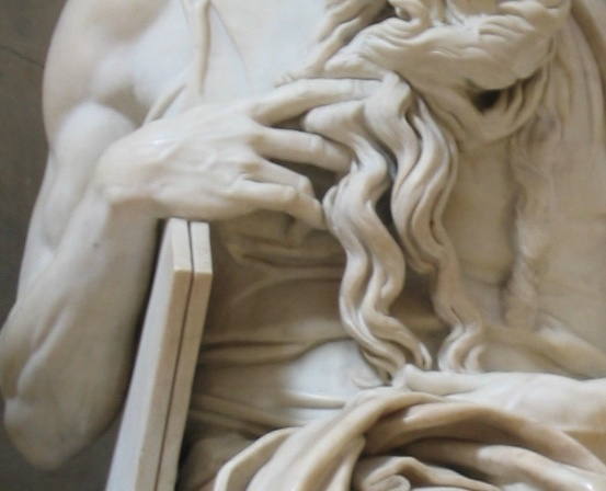 Michelangelo's Moses with his tablets
