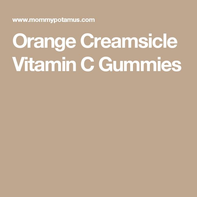 Orange Creamsicle Vitamin C Gummies