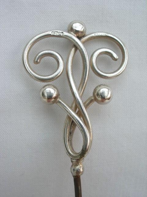 Antique Charles Horner Art Nouveau Silver Hat Pin. #CharlesHorner